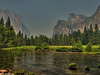 Valley View with Merced River &amp; Bridalveil Fall